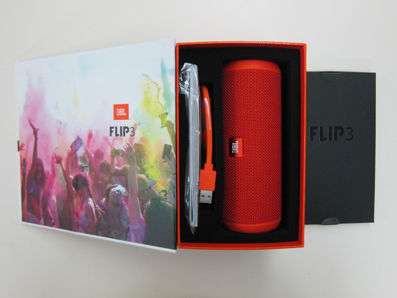 JBL Flip 3 Red  Open Box Splashproof Bluetooth Speaker
