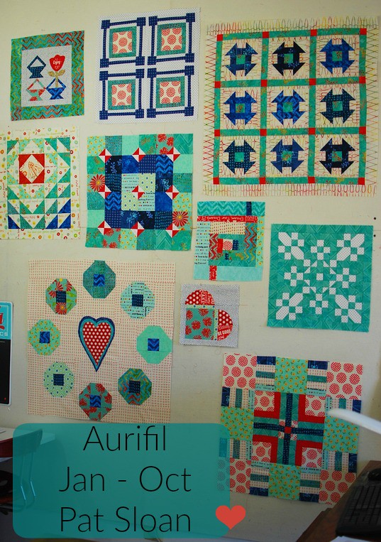 pat sloan aurifil jan to oct blocks