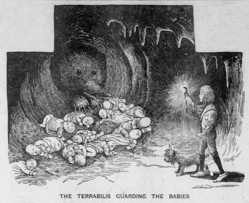 The Salt Lake herald., March 15, 1903, The Terrablis Guarding The Babies