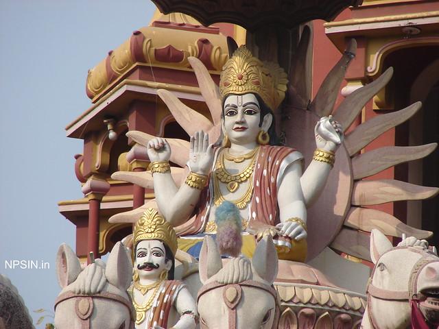 Surya Dev closeup with His sarthi(Driver)