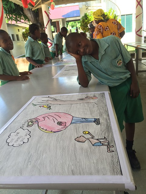 Kanoti with his drawing