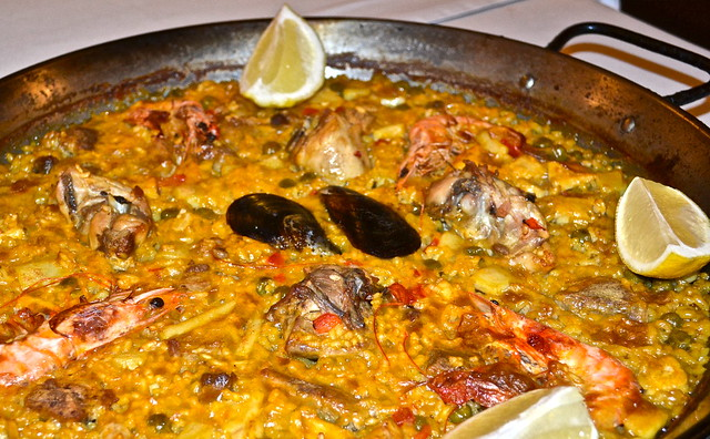 paella - Traditional Spanish Food - La Barraca Restaurant