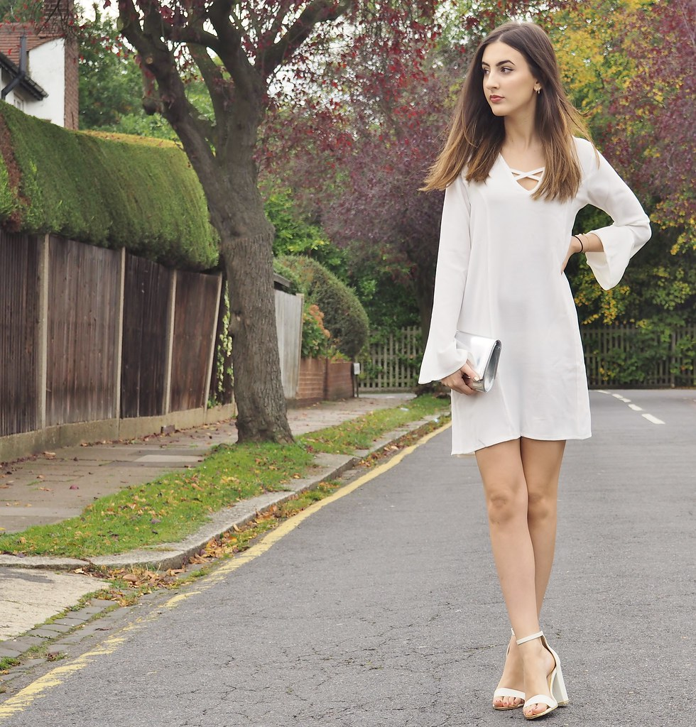 WHITE LATTICE OOTD