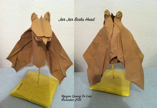 Origami Jar Jar Binks Head