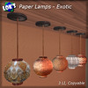 Sera Lok posted a photo:	New subscriber gift is out, 5 paper lamps with exotic shades. Pick them up here: maps.secondlife.com/secondlife/Low%20Prim%20Furniture/128...