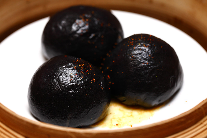 Steamed-Charcoal-Soft-Bun