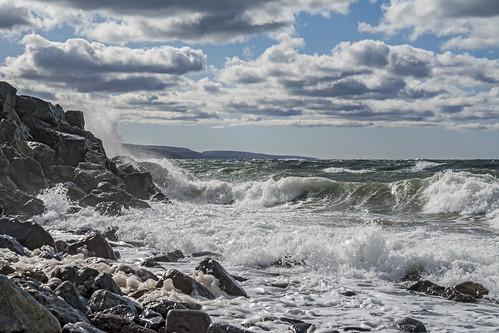 trees fall beach water rocks waves novascotia autum roadtrip hills wharf antigonish northumberlandstraight highway337 easterncanadatrip sunrisetrail dsc4524 nikond7100 october2015 livingstonecove livingstonecovewharfroad