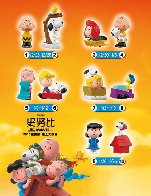 麥當勞 【快樂兒童餐】電影《史努比》系列登場!
