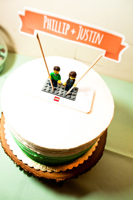 Phillip and Justin's Wedding at Palm Door in downtown Austin, Texas, lgbt wedding, gay wedding, a practical wedding, lego wedding cake