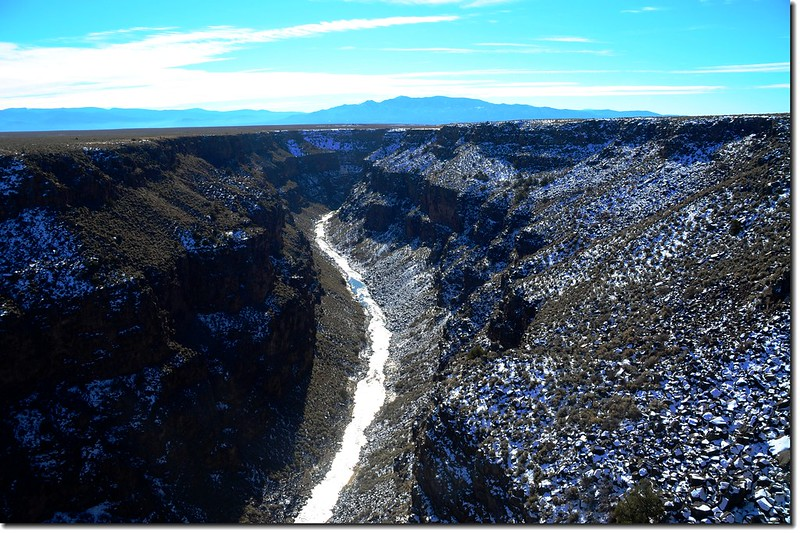Looking down onto Rio Grande Gorge from the top of the Rio Grande Gorge Bridge 2