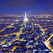 Looking over Paris at night by wabgs