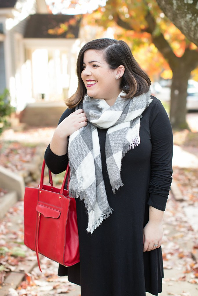 how to wear a blanket scarf, head to toe chic