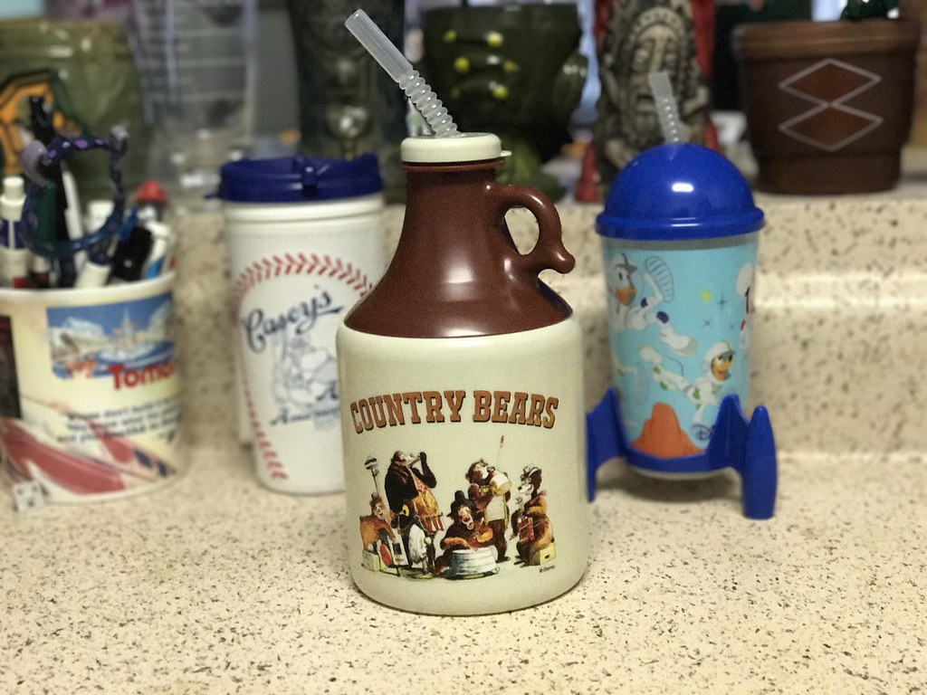 From my personal collection: as you can see, the Country Bears jug is quite large, but the other souvenir cups are considerably smaller.