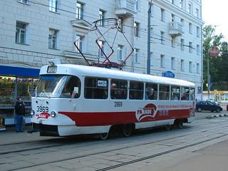 Moscow tram Tatra T3SU 3969