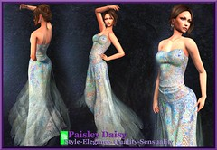 Paisley Daisy - Magnetic Constellation  Blue Gown