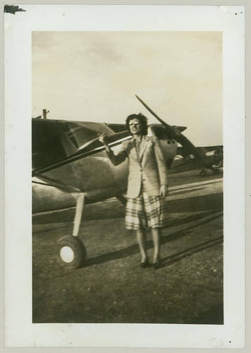 Woman and Light Plane