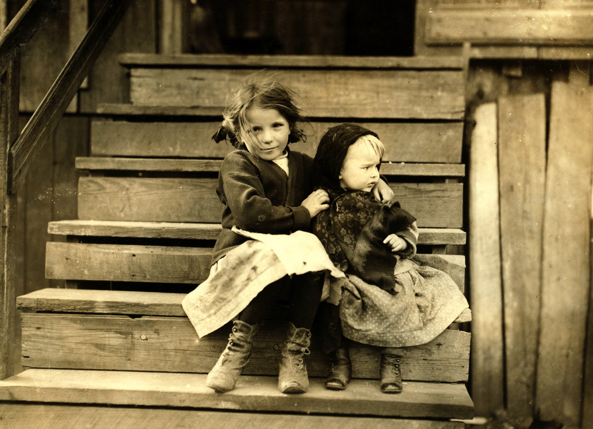 Little Julia Tending the Baby: Photography by Lewis Wickes Hine, 1911