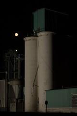 Grain Elevator and Moon - Watkins, CO