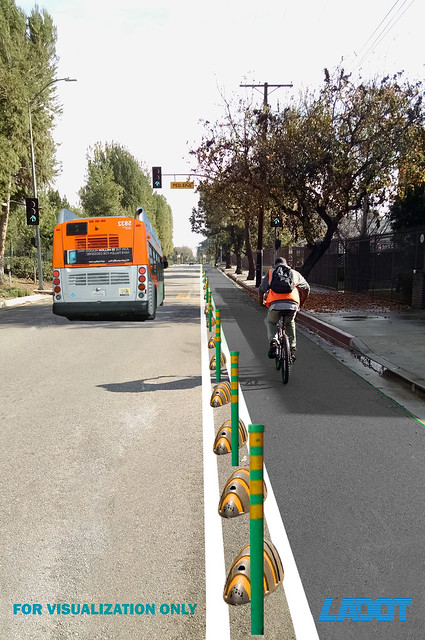 Early Chandler Cycletrack rendering