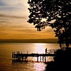 Atardece en el Lago de Ginebra #Suiza
