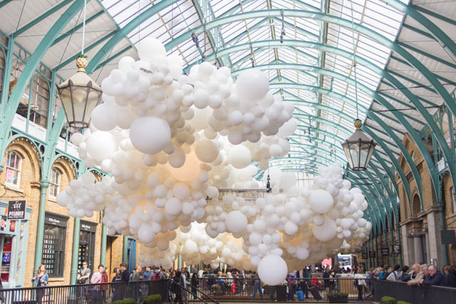 Covent Garden balloon installation