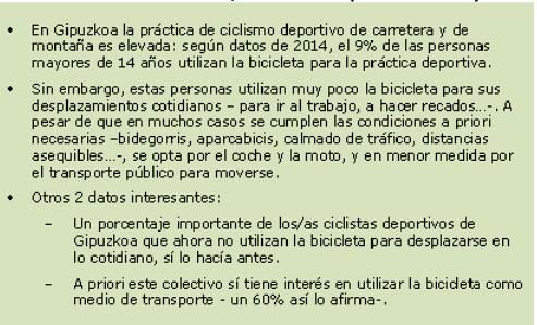 Se solicita colaboración de ciclistas deportivos para estudio de movilidad en Gipuzkoa