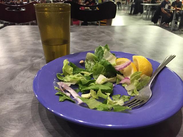 plate of salad leaves