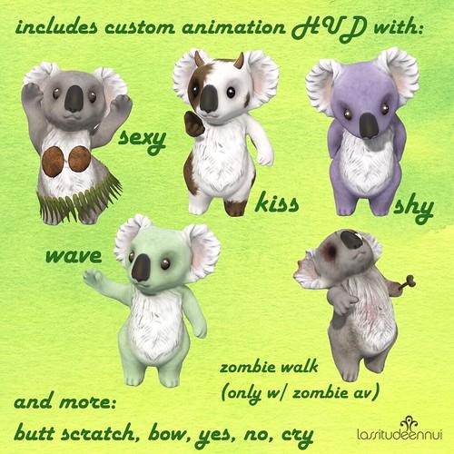 lassitude & ennui Koala anims