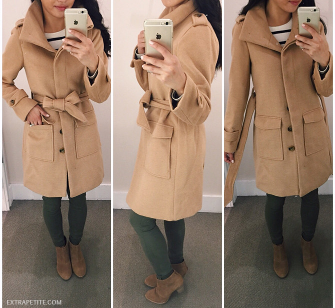 LOFT camel brown coat petite