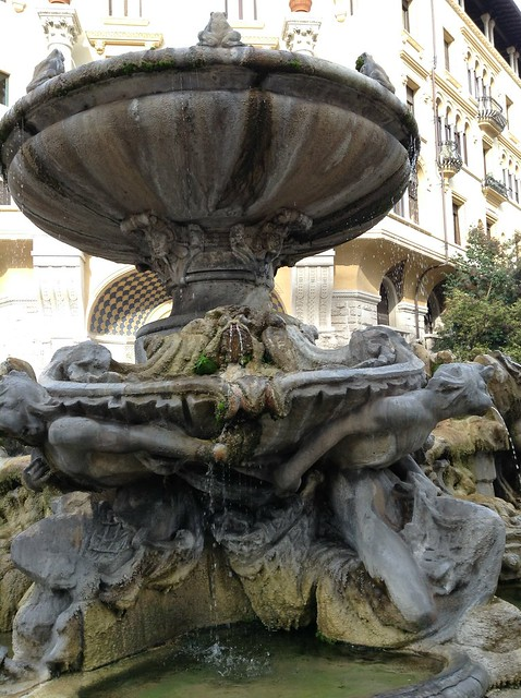 quartiere coppede' detail of fountain