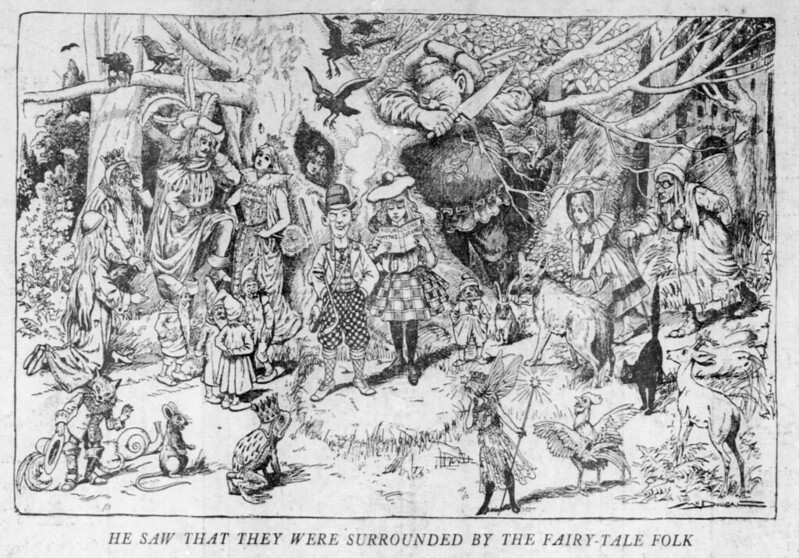Walt McDougall - The Salt Lake herald., April 26, 1903, He Saw That They Were Surrounded By The Fairy-Tale Folk