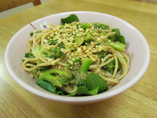 Peanut Noodles with Broccoli