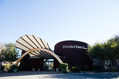 Arch in front of the Doubletree
