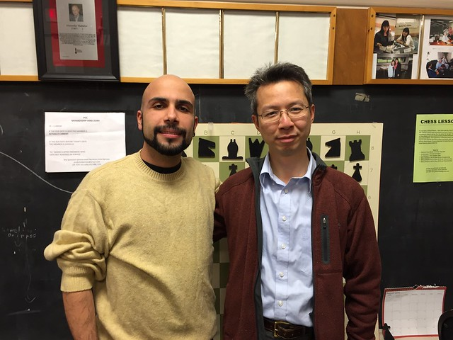 Franklin and Melih at the Pittsburgh Chess Club