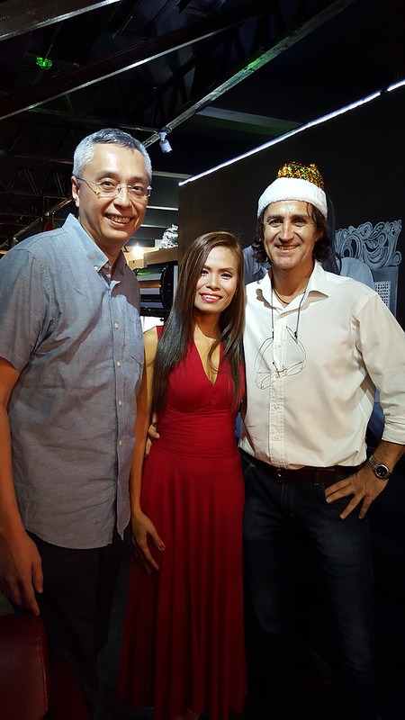 Dr. Louie Gahol with Gina Esperanza Ellorango and Austrian Markus Ableitinger | Fresh Roast of Great FROG Kaffee & Roastery Opens in Davao - DavaoFoodTrips.com