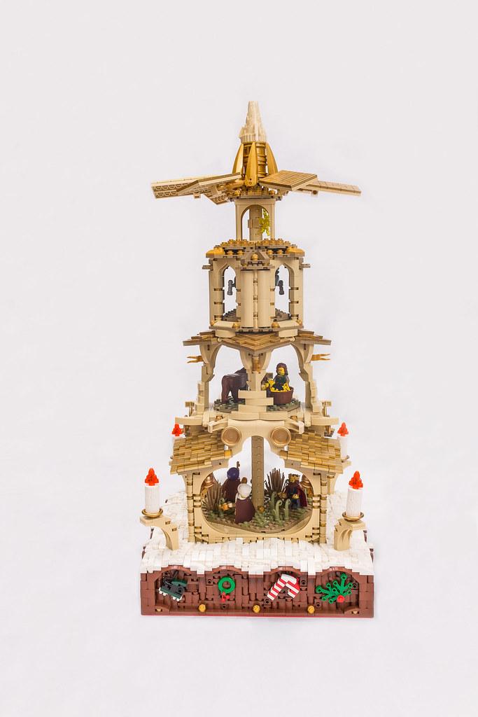 [BuildtheBrick #2]: Weihnachtspyramide 23579144490_35de200131_b