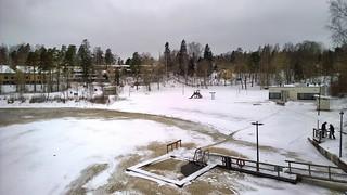 Billede af Pikkukosken uimaranta. pikkukoski beach helsinki finland winter snow ice vantaanjoki