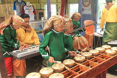 Music students playing traditional insterments