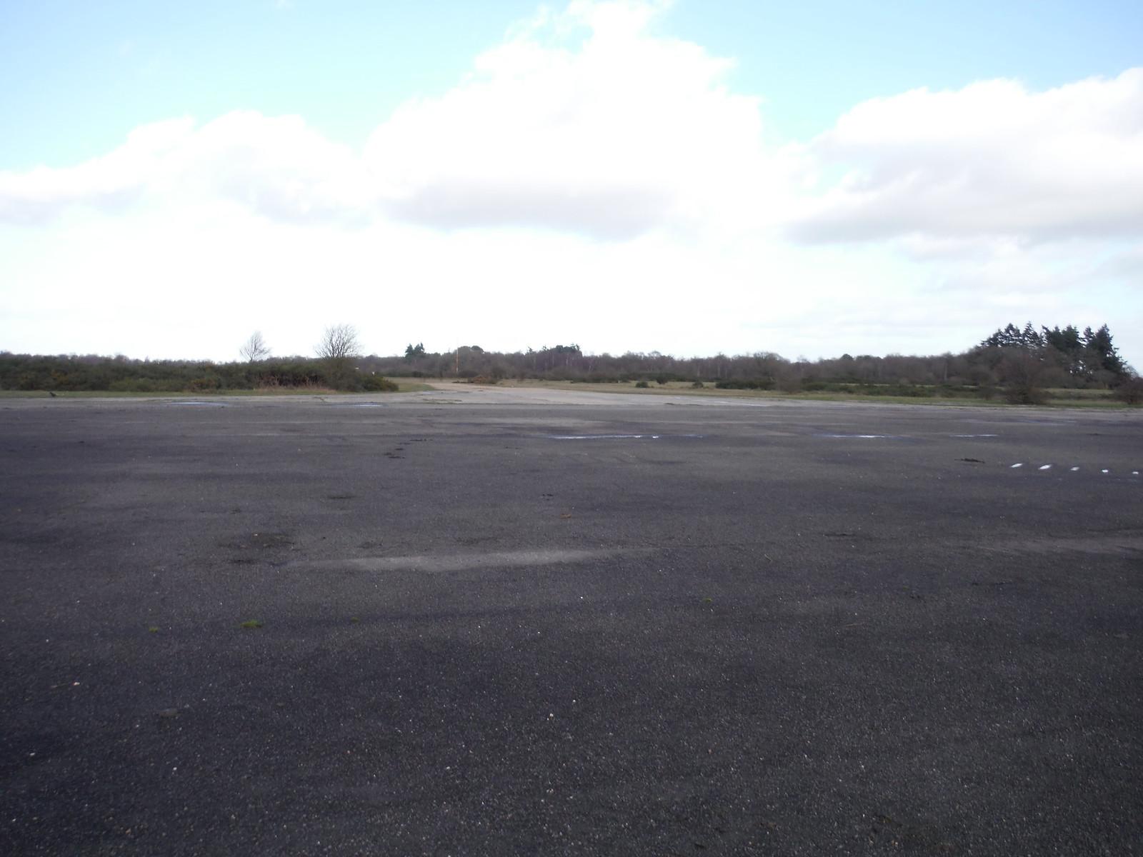 Greenham Common. Remnants of Runway SWC Walk 34 Newbury Racecourse to Woolhampton (Midgham Station)