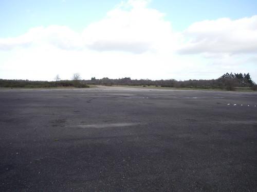 Greenham Common. Remnants of Runway