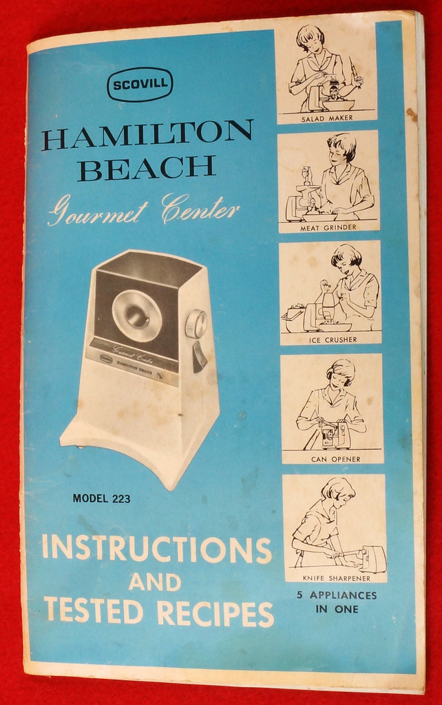 RD9226 Vintage Hamilton Beach Gourmet Center Model 223 with Instruction Booklet in Box DSC08525