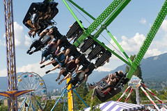 The Beast at Playland Amusement Park, PNE Fairgrounds, Vancouver, British Columbia, Canada.