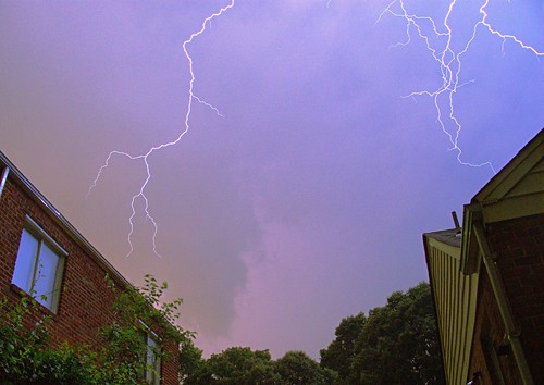 Lightning above my house