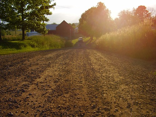 ohio landscape dusk farm mrcardboard