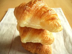 ciabatta(0.0), dessert(0.0), brioche(0.0), baked goods(1.0), food(1.0), dish(1.0), cuisine(1.0), danish pastry(1.0), croissant(1.0),