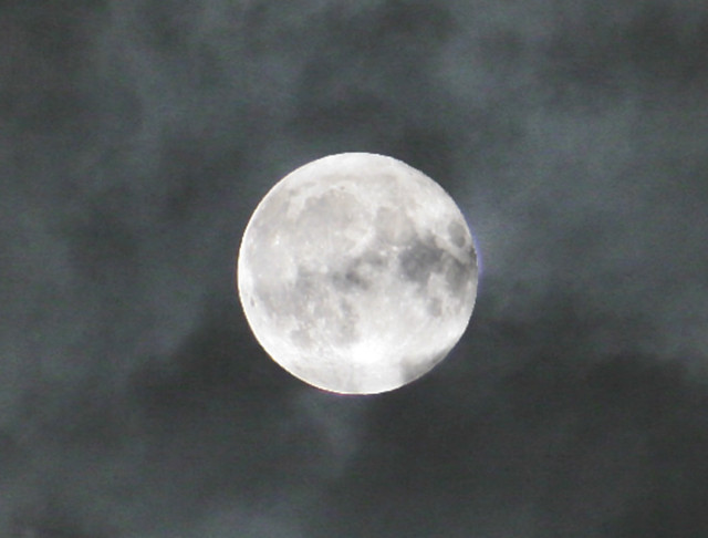 Full Moon in Clouds