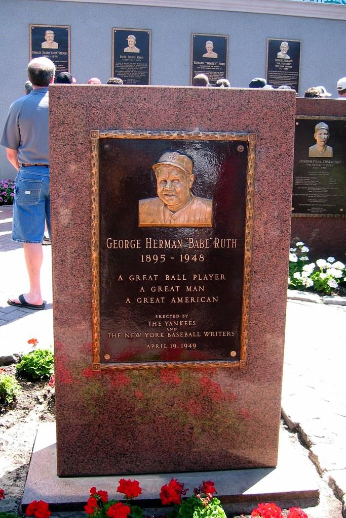 Yankee Stadium - Monument Park - Babe Ruth Monument | Flickr
