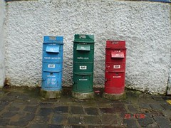 wall, post box,