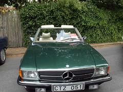 executive car(0.0), performance car(0.0), mercedes-benz 450sel 6.9(0.0), coupã©(0.0), sports car(0.0), automobile(1.0), automotive exterior(1.0), vehicle(1.0), mercedes-benz r107 and c107(1.0), mercedes-benz(1.0), bumper(1.0), antique car(1.0), land vehicle(1.0), luxury vehicle(1.0), convertible(1.0),