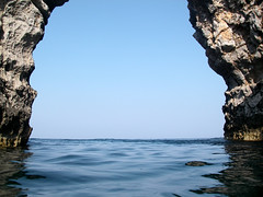 natural arch, water, cape, sea, ocean, nature, body of water, formation, geology, reflection, stack, blue, rock,